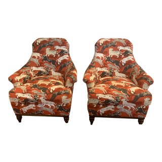 Modern Wesley Hall Tiger Chairs - a Pair For Sale
