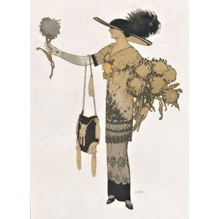 French Art Deco Women's Fashion Print For Sale