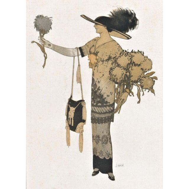 French Art Deco Women's Fashion Print For Sale