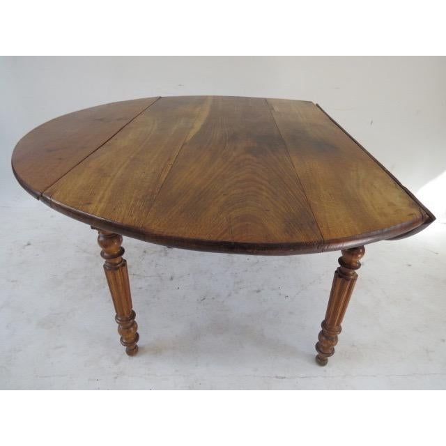 1900s Round Table with Flaps For Sale - Image 4 of 9