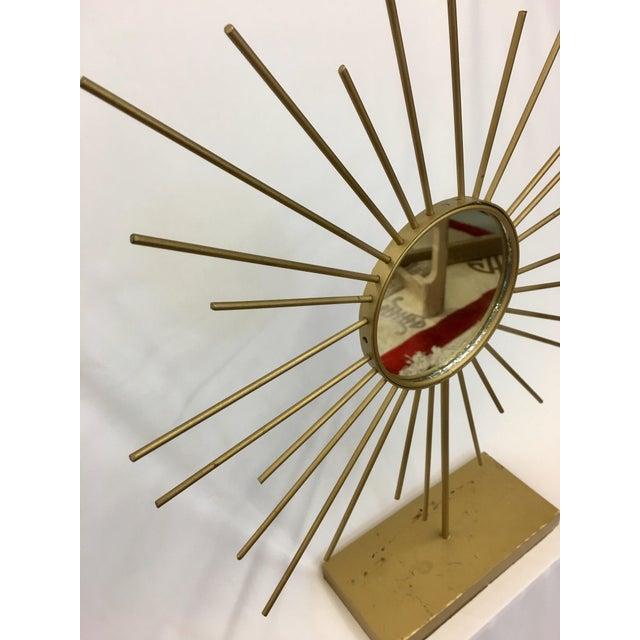 Vintage Gold Metal Starburst Vanity Mirror - Image 4 of 10