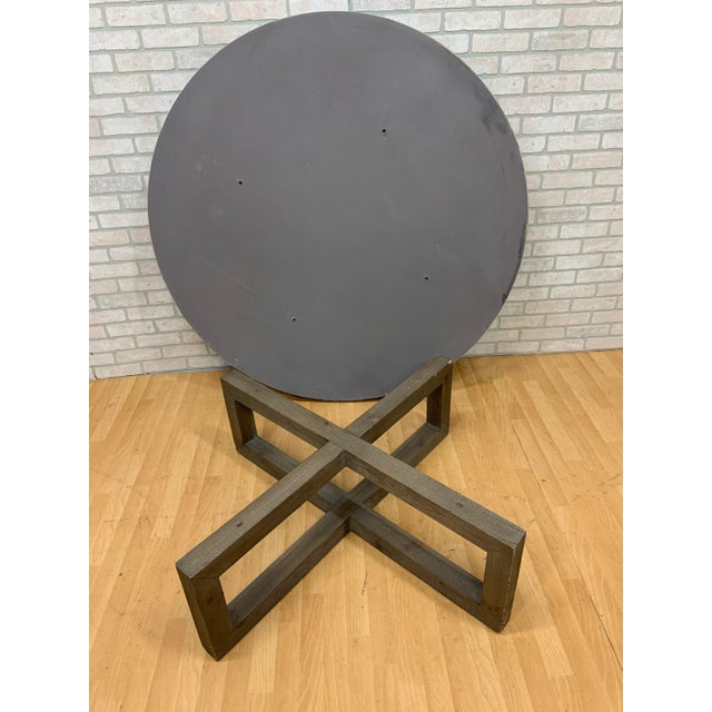 2010s Restoration Hardware Heston Round Coffee Table For Sale - Image 5 of 8