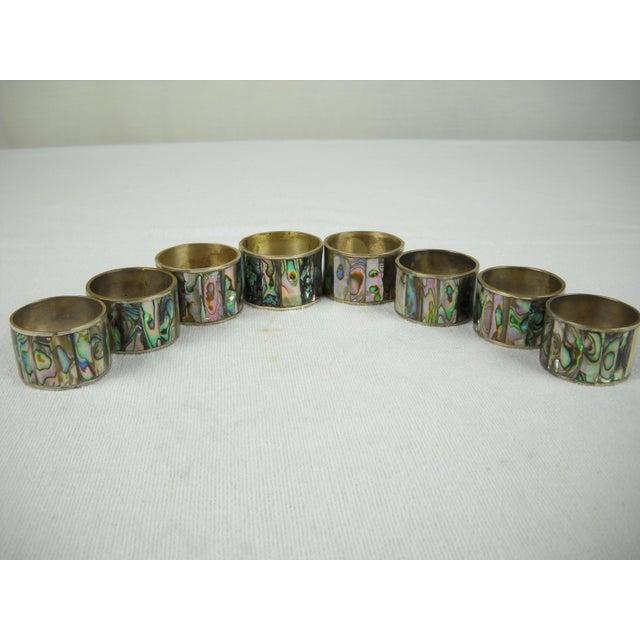 Abalone Shell Napkin Rings - Set of 8 - Image 2 of 8