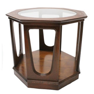 Vintage Mid-Century Walnut End Table For Sale