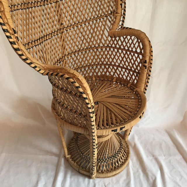 Child Size Vintage Peacock Chair - Image 5 of 9