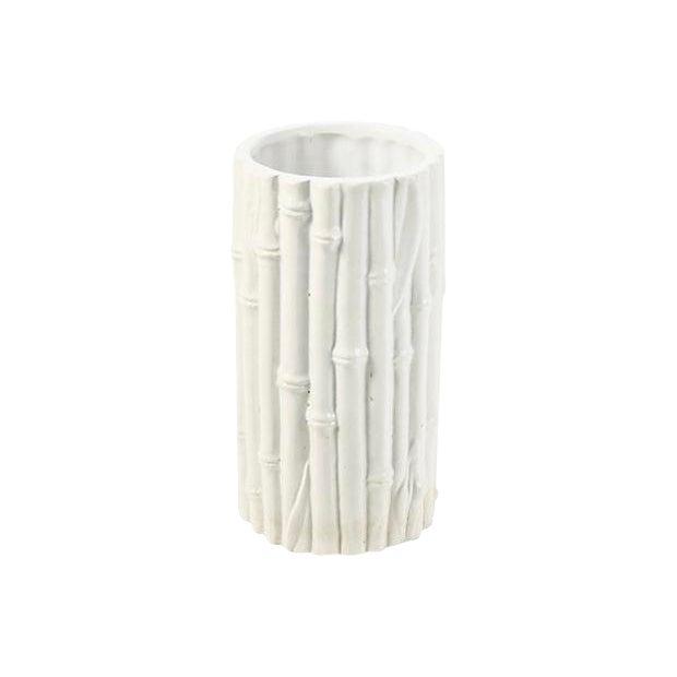 Italian Rosenthal Netter Ivory Bamboo Vase For Sale