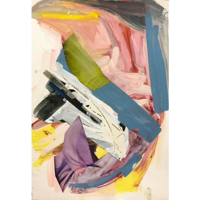 "2010s Diana Delgado ""Cluster Study (Purple Drape)"" Painting For Sale - Image 5 of 5"