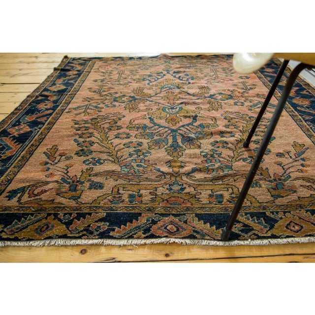 "Antique Lilihan Square Rug - 5' X 5'9"" - Image 4 of 9"