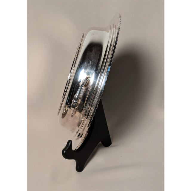 Hollywood Regency Epc 1940s Silver Plate Serving Dish For Sale - Image 3 of 13