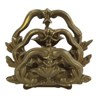 Vintage Brass Letter Holder For Sale