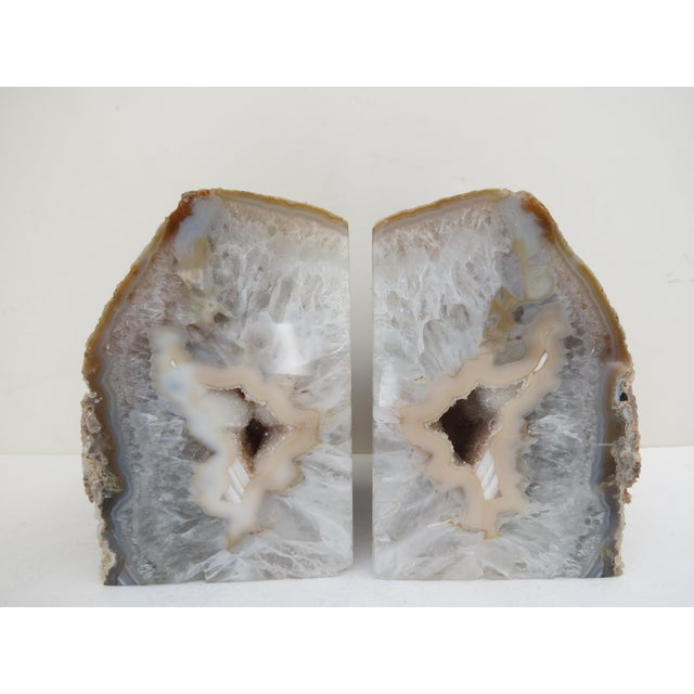 Crystal Geode Bookends - A Pair - Image 2 of 6