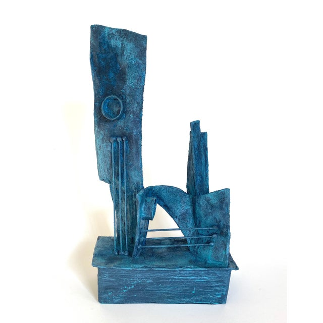 Wood Mid-Century Modernist / Cubist Abstract Sculpture For Sale - Image 7 of 7
