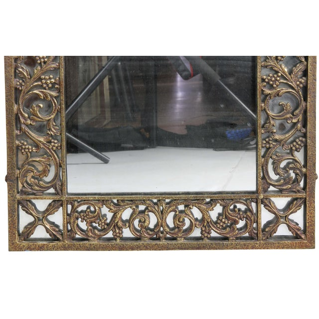 1930s Oscar Bach Bronze Wall Mirror For Sale - Image 5 of 8