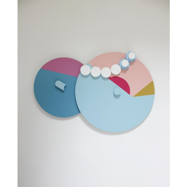 Angela Chrusciaki Blehm Angela Chrusciaki Blehm Peek-A-Boob Pink Wall Sculpture For Sale - Image 4 of 4