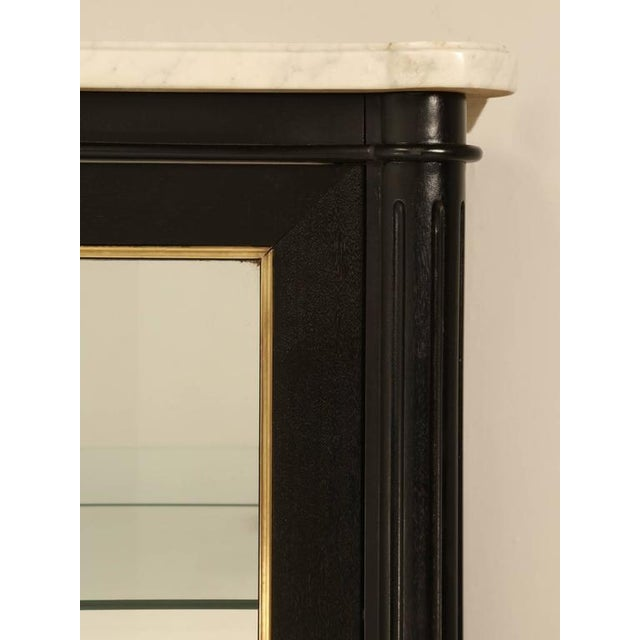 French Louis XVI Style Ebonized China Cabinet For Sale In Chicago - Image 6 of 10