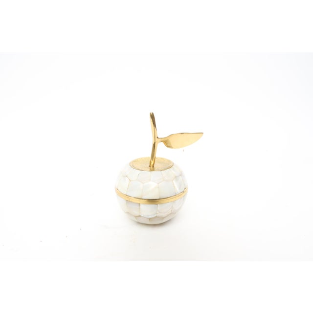Vintage Mother of Pearl and Brass Trinket Box - Image 4 of 7