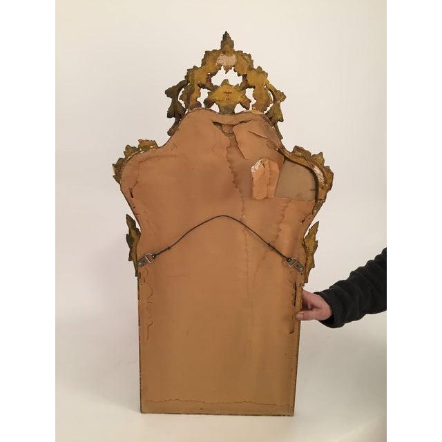 Antique Italian Gothic Gold Leaf Mirror - Image 7 of 11