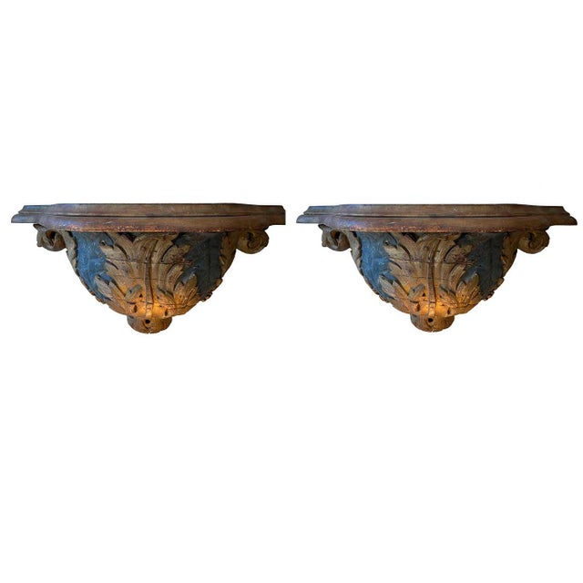 Italian 19th Century Wall Brackets - a Pair For Sale In Dallas - Image 6 of 6