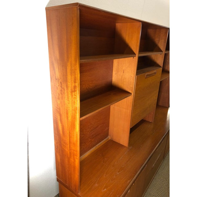 Midcentury Teak Wall Unit by Meredew For Sale - Image 10 of 13