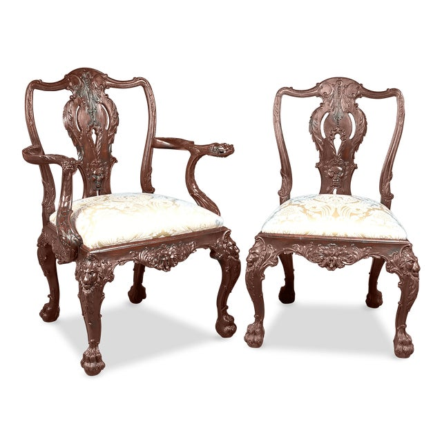 Set Of Eight 19th Century English Dining Chairs - Image 3 of 6