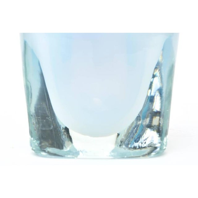 Italian Murano Opalescent Sommerso Glass Vessel/Small Vase For Sale - Image 4 of 10