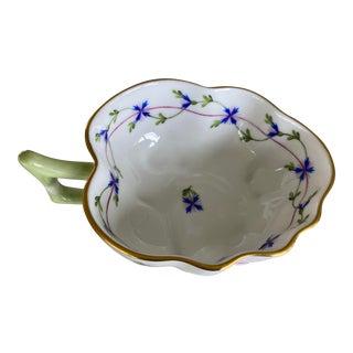 Herend Blue Garland Leaf Dish For Sale