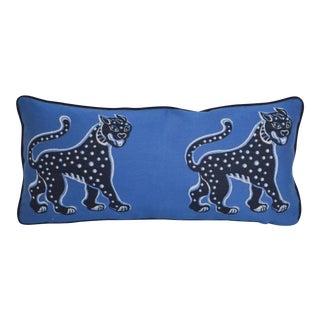 Thibaut Misha Print Sunbrella Lumbar Pillow For Sale