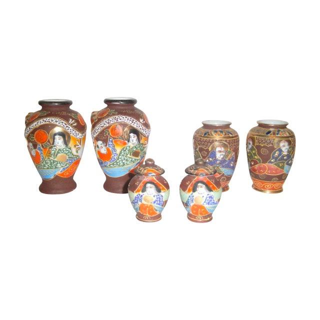 Satsuma Vases & Ginger Jars - Three Pair - Image 1 of 11