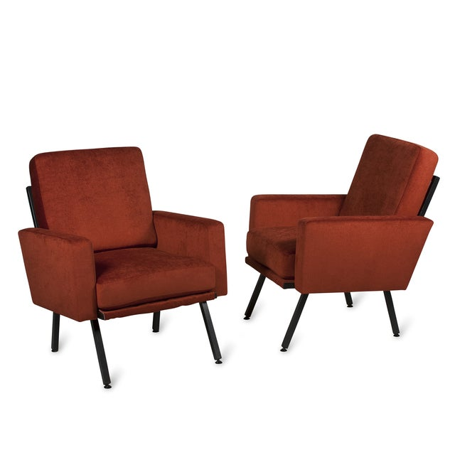 Guariche Style Armchairs, French 1950s - Pair - Image 1 of 5
