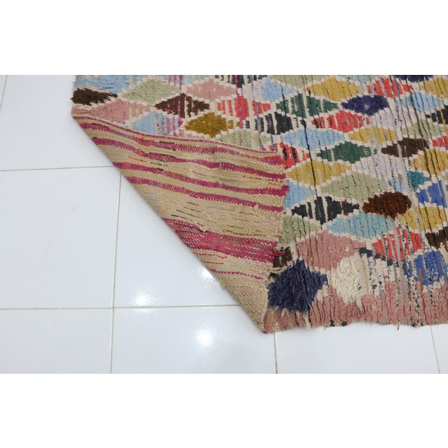 1970s Vintage Boujad Moroccan Rug - 2′11″ × 7′1″ For Sale - Image 4 of 6