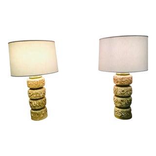 1960s Mid Century Brutalist Design Lamp Quartite Creative Corp - a Pair For Sale