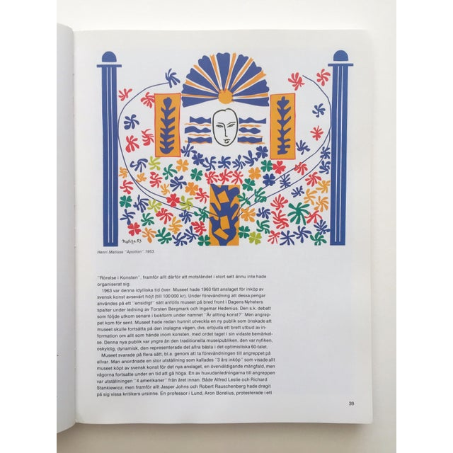 """Contemporary """" Moderna Museet Stockholm 1958 - 1983 """" Rare Vintage 1st Edition 25th Anniversary Collector's Modern Art Book For Sale - Image 3 of 13"""