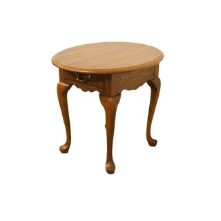 20th Century French Country Pennsylvania House Solid Oak End Table For Sale