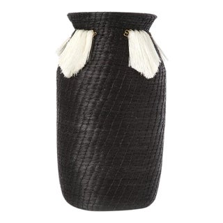 Mini Fanned Out Vase Tall Black For Sale