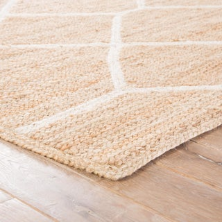 Nikki Chu by Jaipur Living Aten Natural Trellis Beige/ White Area Rug - 2′ × 3′ Preview