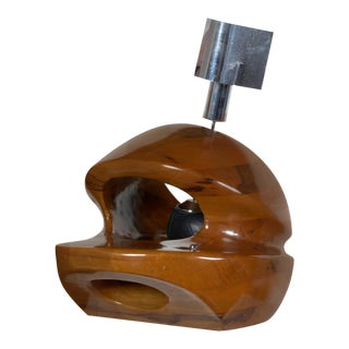 Pulcinelli Wood Table Lamp for Esperia For Sale