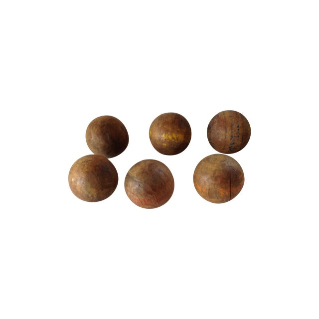 Wood Lawn Balls - Set of 6 - Image 1 of 5