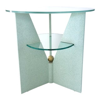 80s Pastel Green Coffee Table For Sale