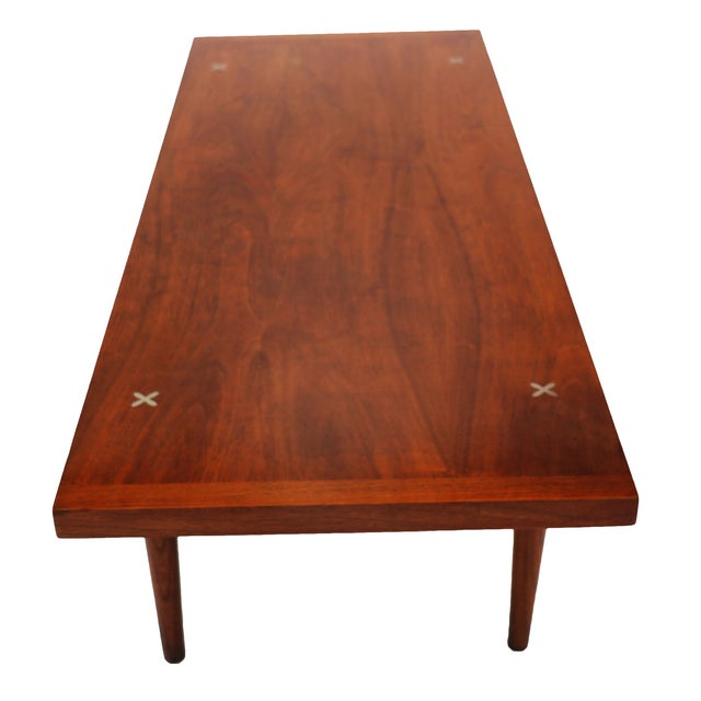 American of Martinsville Walnut Coffee Table - Image 2 of 6