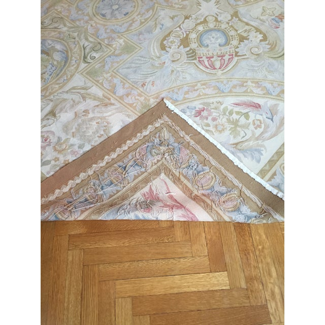 Aubusson French Wool Rug - 9′9″ × 14′2″ - Image 5 of 11