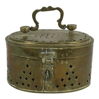 Vintage Large Brass Cricket Box