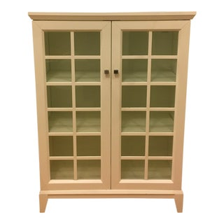 Crate & Barrel Paterson Glass Front China Cabinet For Sale