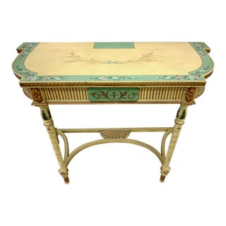 French Country Hand Painted Mainland Smith Console Table For Sale