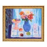 Image of Mid-Century French Kitchen Still Life Painting For Sale