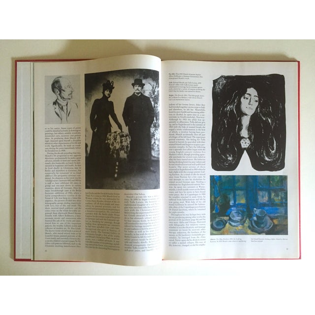 """"""" Munch """" First Edition Vintage 1990 Expressionist Hardcover Art Book For Sale - Image 10 of 13"""