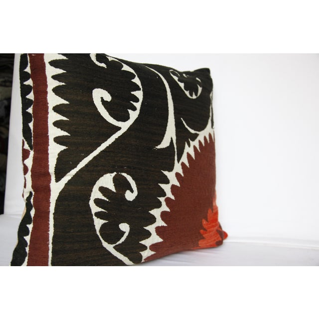 Handwoven Suzani Pillow Cover For Sale - Image 10 of 11