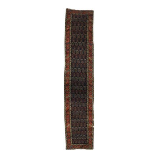 Antique Persian Bijar Carpet Runner, Extra Long Persian Runner with Boteh Design