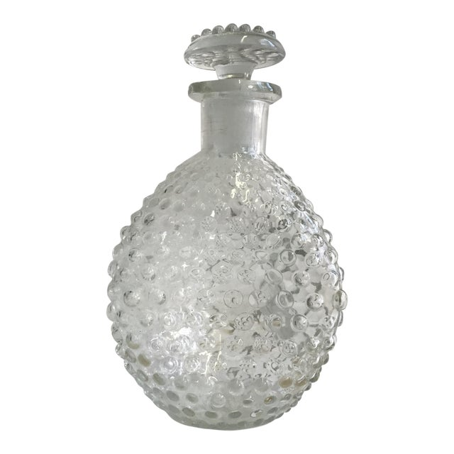 Hand Blown Hobnail Glass Decanter - Image 1 of 6