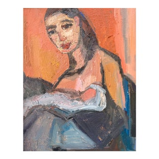 """Abstract Oil """"Mother and Child"""" by Anne Darby Parker"""