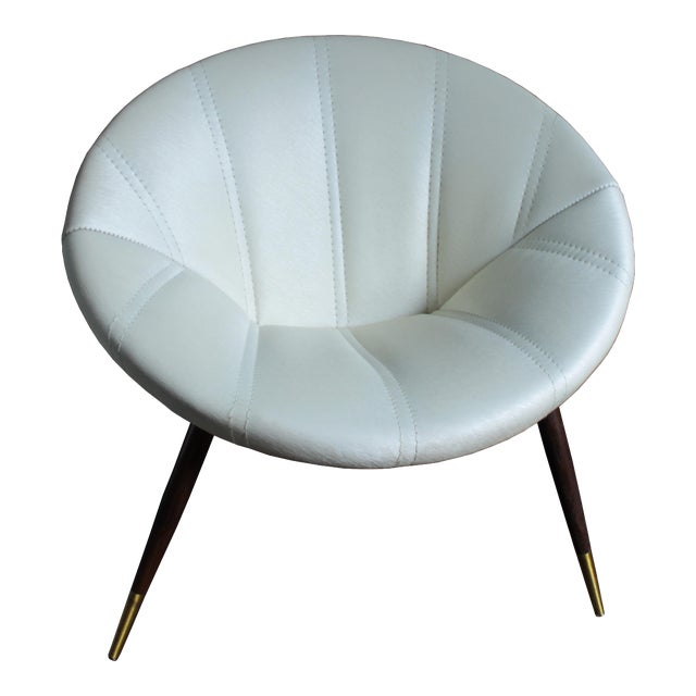 Mid-Century Saucer Chair For Sale